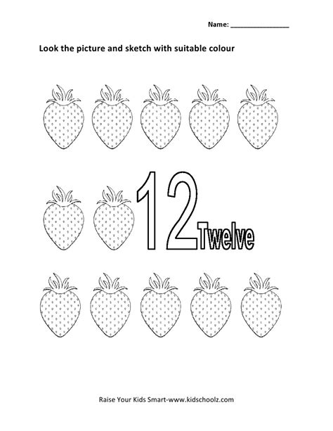 14 best images of number 12 tracing worksheet for