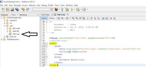 tutorial netbeans jsp implementing jsp on netbeans ide