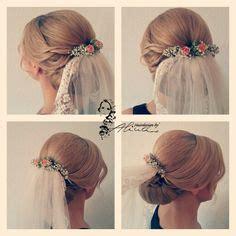 Hochzeitsfrisur Geflochten Mit Schleier by Brautfrisur Mit Schleierkraut Bridalhair Weddinghair