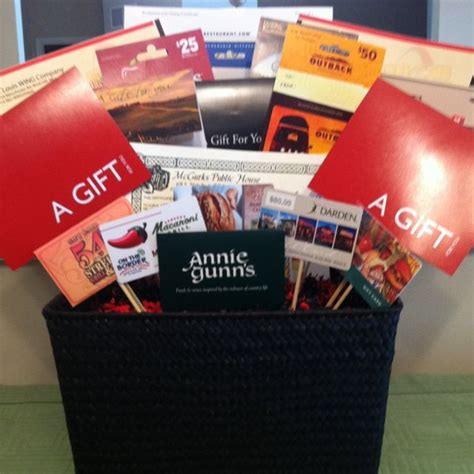 Gift Card Idea - auction raffle basket idea gift card basket great for fundraisers fundraising