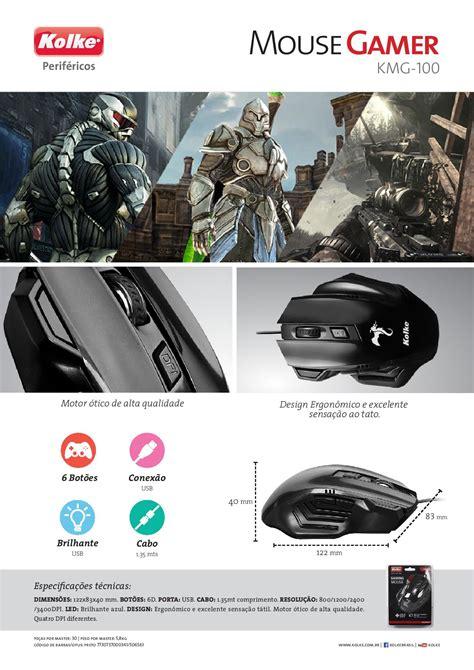 Mouse Macro 100 Ribu comprar mouse gamer macro 3400 dpi usb series kolke kmg100 apenas r 32 98 aprender