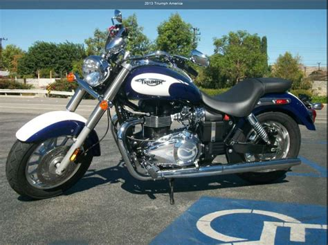 2013 triumph america with new blue white paint 2012