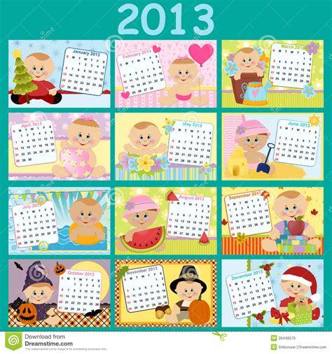 Calendario Por Años Calend 225 Mensal Do Beb 234 Para 2013