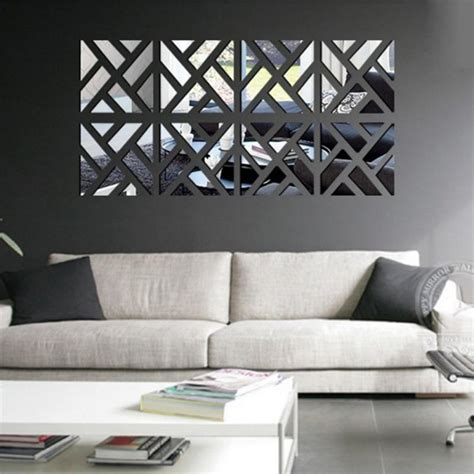 wall sticker mirrors new 3d acrylic mirror wall stickers square living room