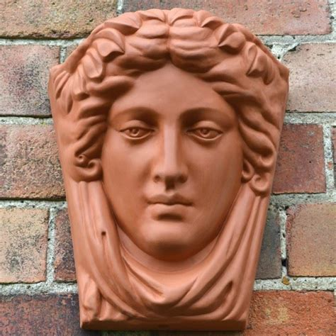lade in terracotta goddess terracotta wallpot terracotta uk made