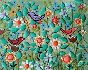 Birds and blooms is a painting by karla gerard which was uploaded on