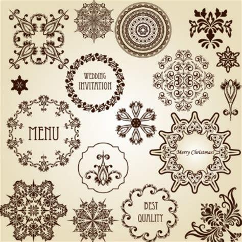 vector vintage floral design elements free vector in free vector vintage floral border and corner design