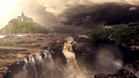 matte painting in matte painting raneh falls by aqwmim on deviantart
