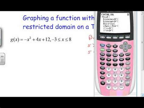 restricted domain function   ti  youtube