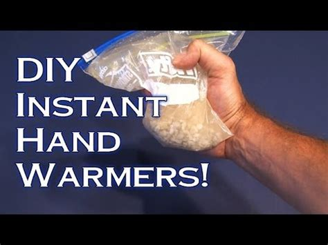hot gel hand warmer how does it work diy instant hand warmers youtube