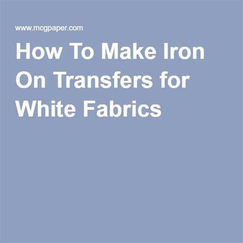 How To Make Iron On Transfer Paper - best 25 iron on transfer ideas on diy