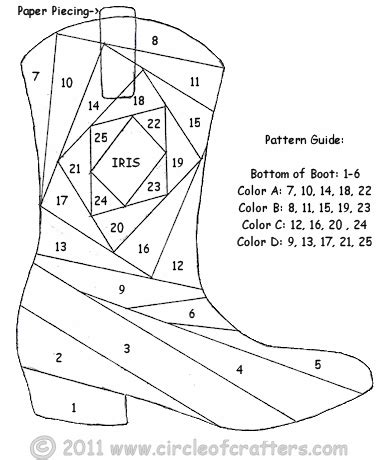 santa boot template cowboy boot paper piecing pattern santa didn t bring me