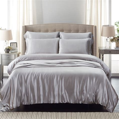 silk bed sets silver silk bed linen from the finest mulberry silk