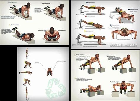 try different types of push ups for different muscles http
