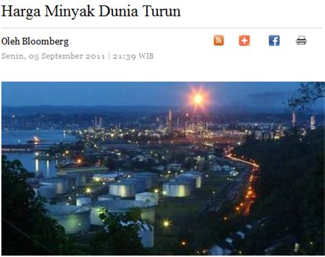 Minyak Dunia Turun anak sungai derhaka harga minyak dunia turun