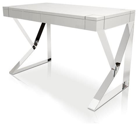 white lacquer desk houston desk in white lacquer contemporary desks and