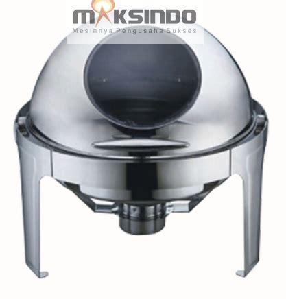 6 8ltr Rolltop Sunnex Bulat Chafing Dish Prasmanan Pemanas Makanan chafing dish bentuk bulat roll 6 liter toko mesin