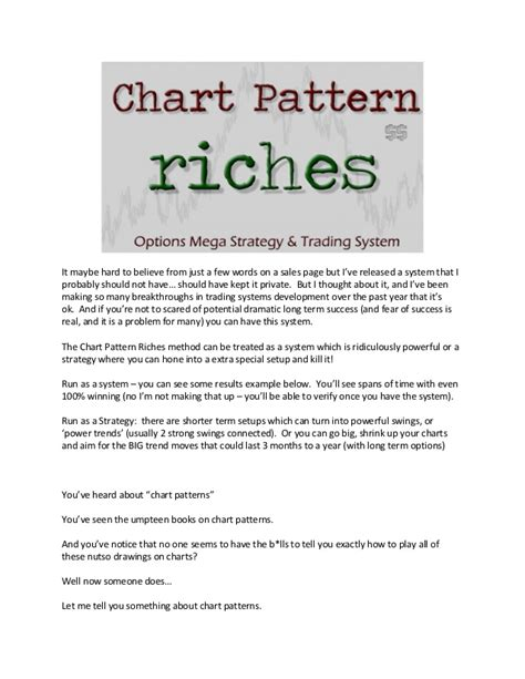 chart pattern trading system chart pattern riches options mega strategy and trading system