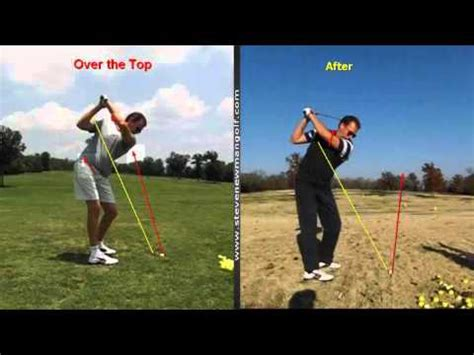 out to in golf swing cure over the top golf swing fault youtube