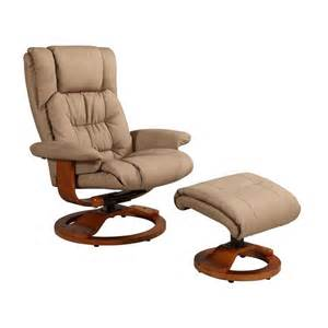 Recliner Chair And Ottoman Mac Motion Oslo Swivel Recliner With Ottoman In And Walnut Vinci 914 103