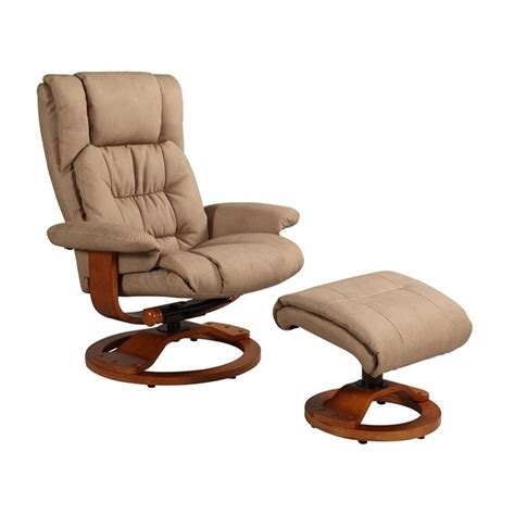 mac motion oslo leather swivel recliner with ottoman in