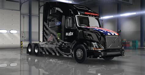 hoonigan truck hoonigan stars bars livery skin for volvo vnl 780 mod