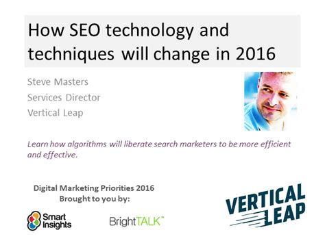 Seo Techniques 2016 by How Seo Techniques And Technology Will Change In 2016