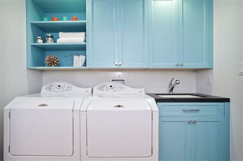 turquoise blue cabinets contemporary laundry room lenox