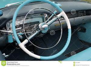 Steering Wheel Light On Dashboard American Classic Car Interior Stock Image Image 30112061