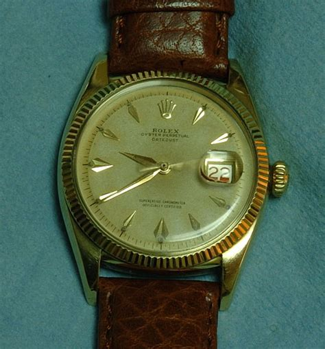 4956 rolex datejust 14k c 1955 butterfly rotor