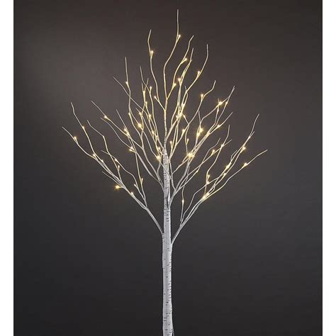 trees with led lights proht 6 ft 3 watt birch tree with 72 warm led lights