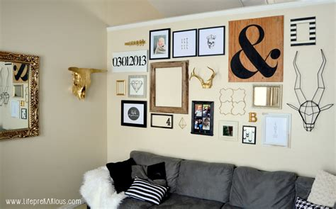 Black White And Gold Home Decor by Black White And Gold Gallery Wall Home Decorating Diy