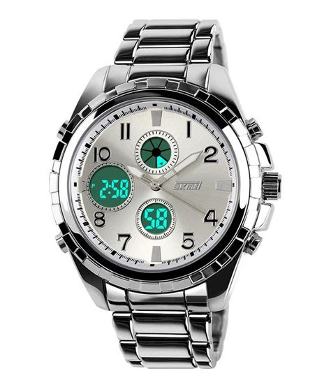 skmei silver trendy casual stainless steel quartz buy skmei silver trendy casual