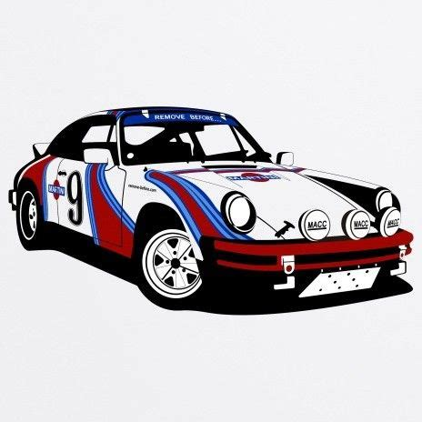 porsche garage art porsche 911 rally organic t shirt golden age of
