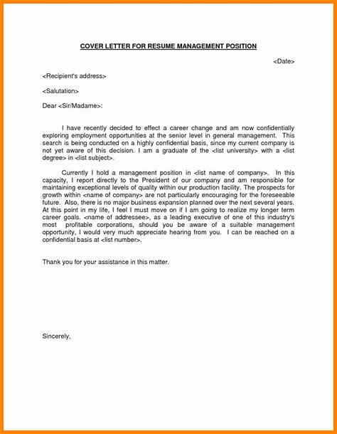 Covering Letter For Resume Sle by 10 Cover Letter For Manager Position Letter Signature