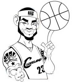 lebron coloring pages how to illustrate a lebron character