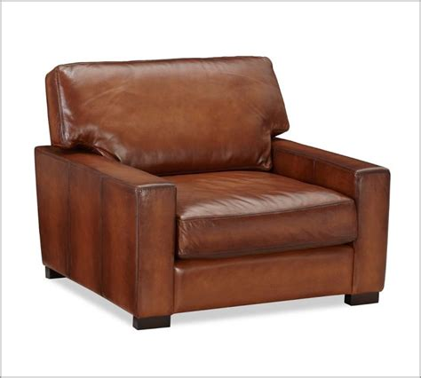 turner leather armchair pottery barn cool house