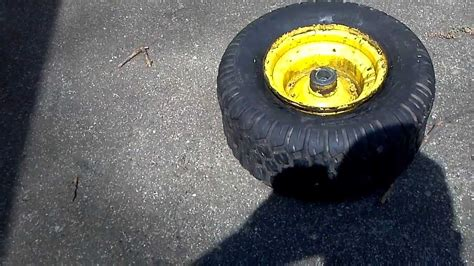 seating lawn mower tire seating bead on small mower tire deere stx 38