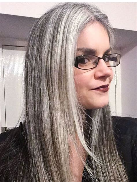 highlighting salt and pepper hair salt and pepper sterling silver 17 best images about aging with style flair on pinterest