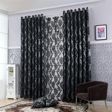 Rideau Noir by Rideau Occultant Noir Large Court Et Rideaux Design