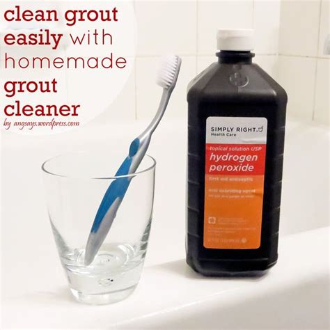 best bathroom grout cleaner easy homemade grout cleaner housework pinterest