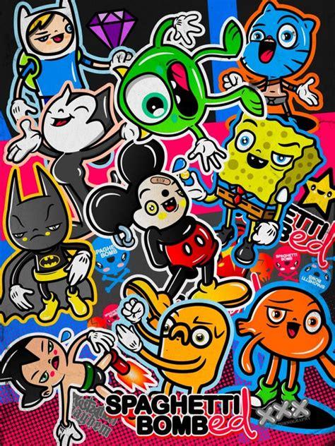 cara desain 13 contoh gambar ilustrasi karakter kartun lucu imut dan keren