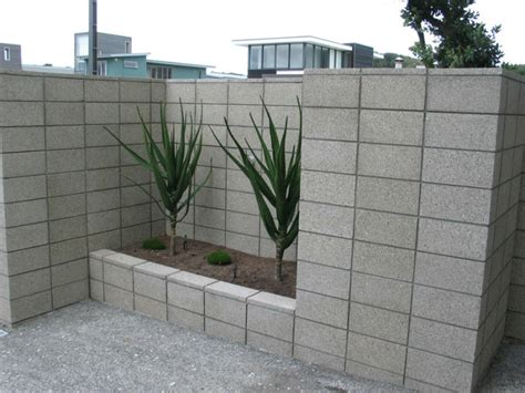 decorative concrete block retaining wall decorate your garden with concrete blocks sn desigz