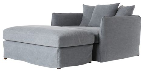 chaise and a half lounge shop houzz rustic modern dalenna chair and half indoor