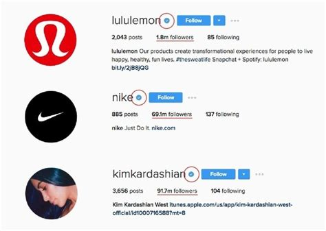 celebrity instagram account names what does the blue tick mark beside the names in instagram