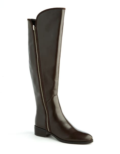 donald pliner boots donald j pliner leather boots in brown brown