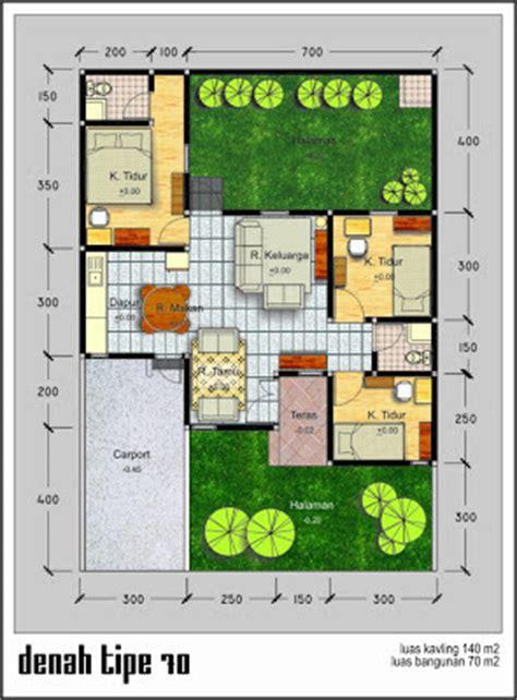 denah rumah modern type 70 desain denah rumah terbaru denah rumah minimalis desain rumah