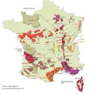 France Wine Regions Map by French Wine Map France In D C