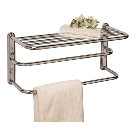 shop gatco essentials chrome metal towel rack at lowes