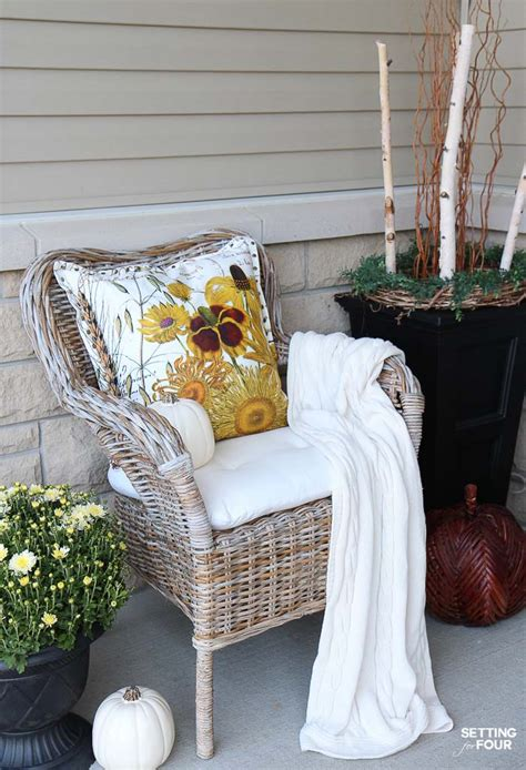 diy cozy home decorating cozy rustic fall porch decor setting for four